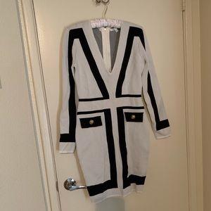 Long sleeve bandage dress